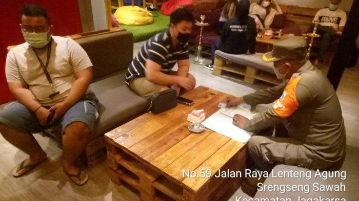 Satpol PP Jagakarsa Razia Kafe Shisha di Malam Tahun Baru: 21 Orang Dites Rapid, 2 Reaktif