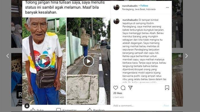 Viral Pria Paruh Baya Penjual Sapu Lidi Jadi Korban Copet, Ternyata Tinggal Sendiri di Gudang Pasar