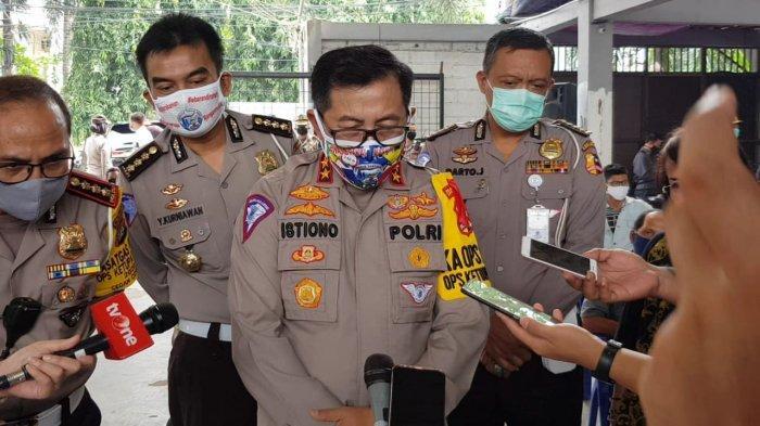 Kakorlantas Polri Irjen Istiono saat memberi keterangan di Cipayung, Jakarta Timur, Senin (18/5/2020).