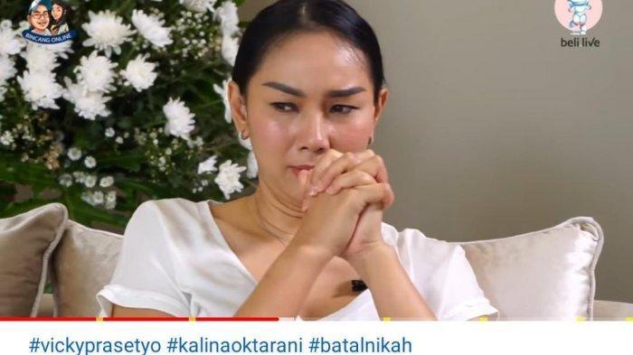Pernikahan Terhalang Restu Ayah, Kalina Menangis Mohon ke Vicky Prasetyo: Sabar Sama Aku Ya Sayang