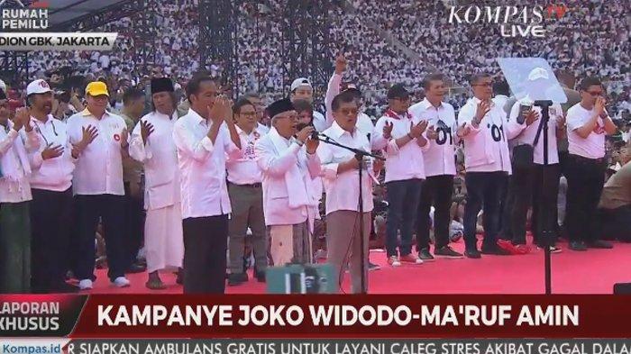 Ambil Alih Mic Usai Maruf Amin Pimpin Doa, Ustaz Yusuf Mansur Buat GBK Menggema dengan Sholawat