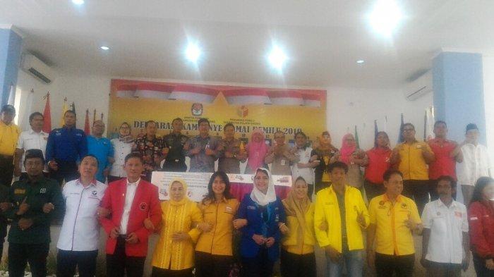 Penyelenggara Pemilu Sampai Pengurus Parpol, Hadiri Deklarasi Kampanye Damai di Kelapa Gading