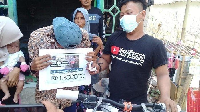 Kang Emon Pedagang Mainan di Bekasi yang Gagalkan Begal Motor, Diganjar Sepeda Baru dan Uang Tunai