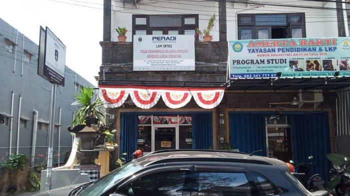 Kantor Pusat Law Firm Togar Situmorang di Jalan Tukad Citarum No.5 A, Renon, Denpasar Selatan.