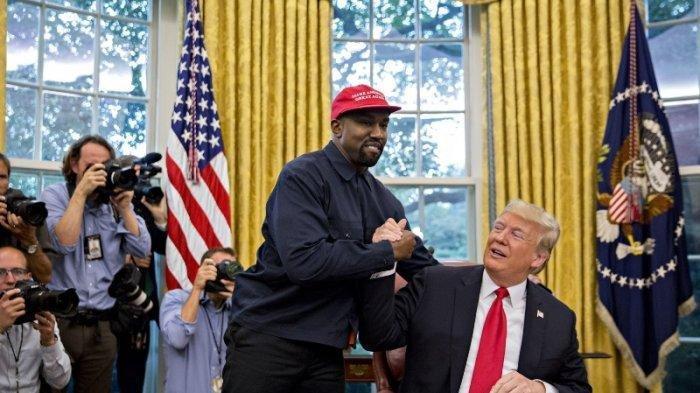 Kanye West dan Donald Trump.