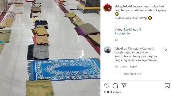Viral Video Shaf Wanita di Masjid Ini Sudah Dibooking untuk Salat Idulfitri, Padahal Masih H-2