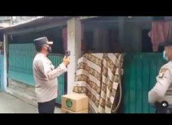Viral Video Warga Lagi Isoman Dibentak Tetangga, Polisi Silaturahmi dari Luar Rumah dan Beri Bantuan