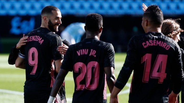 Real Madrid Kalahkan Celta Vigo 3-1, Benzema Cetak Brace