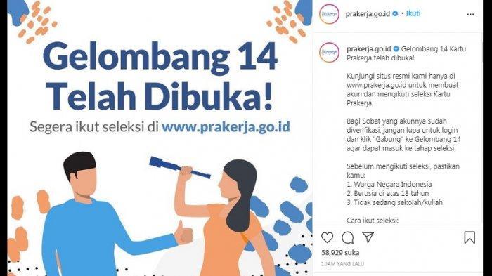 Segera Daftar di www.prakerja.go.id, Peserta yang Lolos Bisa Dapatkan BLT Lebih dari Rp 3,55Juta