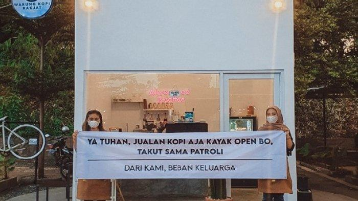 Terdampak PPKM Darurat, Kafe Ini Bentangkan Spanduk Nyeleneh: 'Jualan Kopi Kayak Open BO'