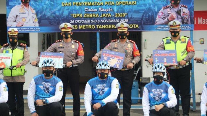 Pakai Handphone hingga Bonceng Tiga Naik Motor, Sasaran Operasi Zebra 2020 2 Pekan di Tangerang