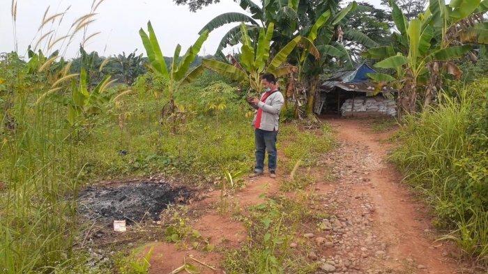 Kondisi area penemuan jasad di Suradita Lele, Cisauk, Kabupaten Tangerang, Sabtu (10/7/2021).