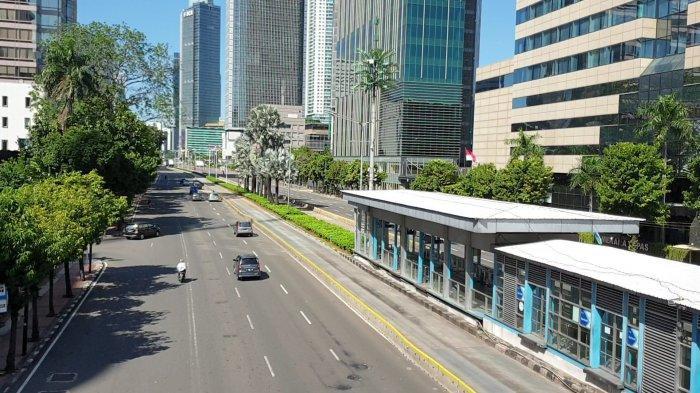 Lebaran di Tengah Pandemi Covid-19, Begini Kondisi Lalu Lintas di Jakarta Pusat
