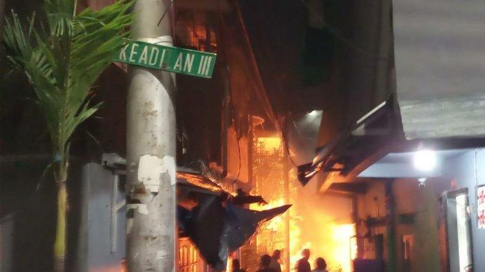 Kebakaran Landa Rumah Tinggal di Glodok