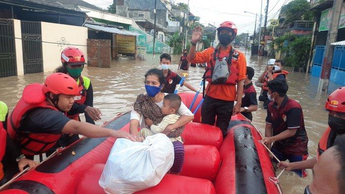 Kota Bekasi Terendam Banjir, Ada 57 Titik di Sejumlah Wilayah yang Tergenang Air