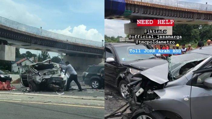 BREAKING NEWS - Kecelakaan Beruntun di Tol BSD, Libatkan Lebih dari 2 Mobil