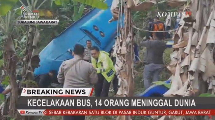 Korban Meninggal Dunia Bus Masuk Jurang di Sukabumi Bertambah Jadi 17 Orang