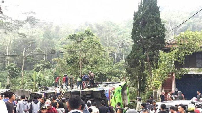 Sopir Bus Tewas Dalam Kecelakaan Maut di Subang,Tinggalkan Istri dan 6 Orang Anak