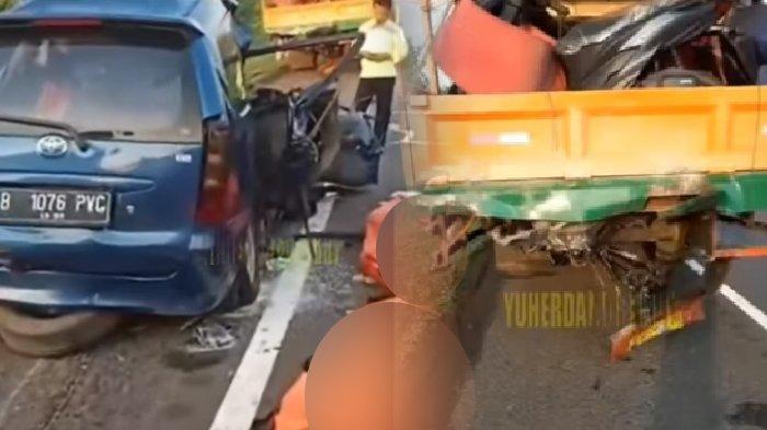 6 Penumpang Tewas,Video Sesaat Setelah Avanza Tabrak Buritan Truk di Tol Cipali & Daftar Nama Korban