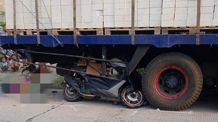 Ingin Temui Putrinya, Seorang Ayah Tewas Kecelakaan, Motornya Masuk Kolong Truk