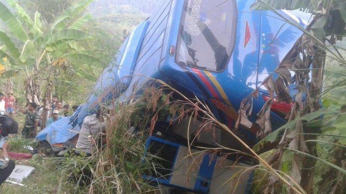 Kecelakaan Bus Masuk Jurang di Sukabumi: Angkut Rombongan Karyawan, Kontak Terakhir Kerabat Korban