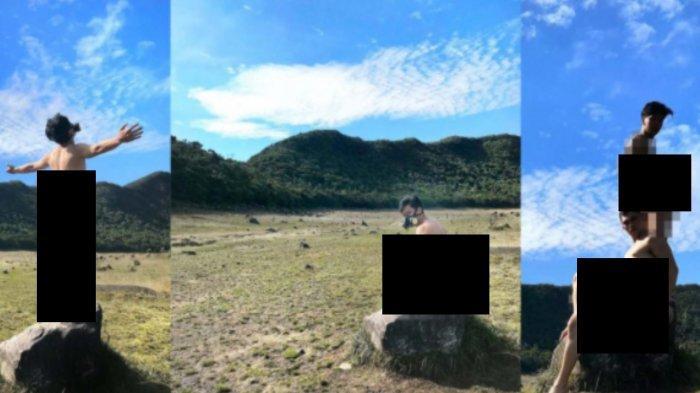 Heboh 2 Pria Berpose Bugil di Tempat Sakral Gunung Gede, Dituntut Minta Maaf & Jadi Buruan Polisi