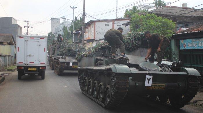 Viral Video Penyekatan Mudik di Perbatasan Bekasi - Bogor Kerahkan Tank, Begini Penjelasan TNI