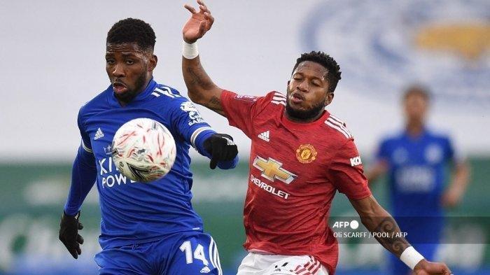 Hasil Piala FA: Striker Leicester City, Kelechi Iheanacho Cetak Brace ke Gawang Manchester United
