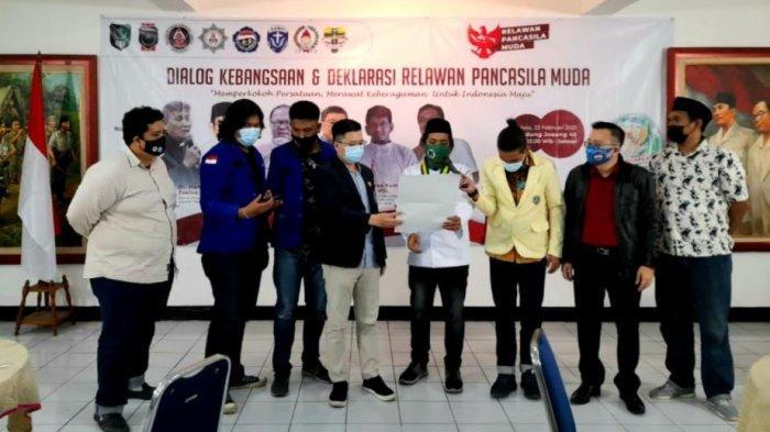 Pemuda Lintas Agama Deklarasikan Relawan Muda Pancasila di Gedung Joang 45 Jakarta Pusat