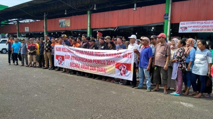 Keluarga Besar Pasar Induk Kramat Jati Gelar Deklarasi Pemilu Damai 2019