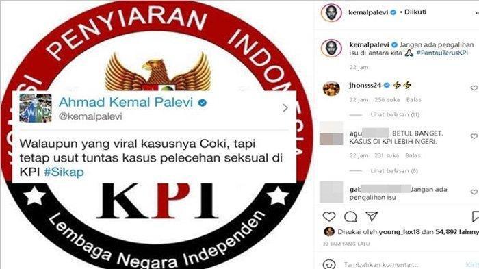 Kemal Palevi ajak masyarakat untuk tetap mengawal kasus pelecehan di KPI.