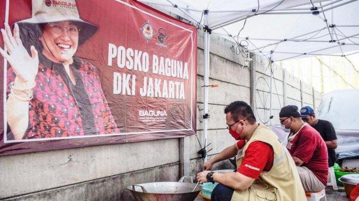 Obati Kesedihan, Baguna PDIP DKI Sajikan Makanan Khas Lebaran untuk Korban Kebakaran Kapuk Muara