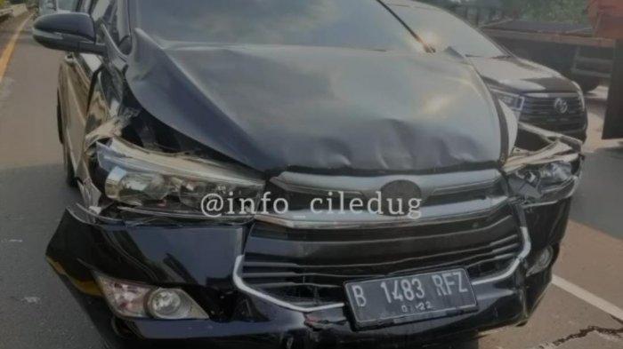 Kadispora Kota Tangerang Mengalami Kecelakaan Beruntun di Tol Karang Tengah