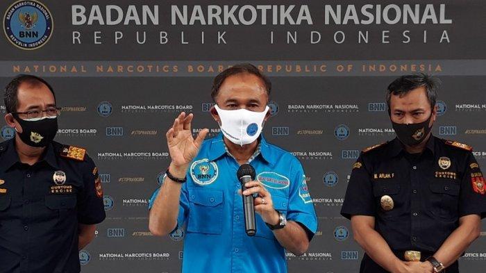 Kepala BNN Komjen Heru Winarko saat memberi keterangan di kantor BNN, Jakarta Timur, Kamis (30/7/2020).