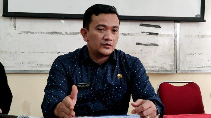 Kepala Dinas Pendidikan Provinsi Jawa Barat, Dedi Supandi, saat dijumpai wartawan di SMAN 4 Depok, Tapos, Kamis (8/4/2021).