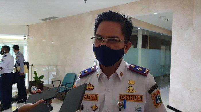 Kepala Dinas Perhubungan Syagrin Liputo saat ditemui di Balai Kota DKI Jakarta, Jumat (12/6/2020).