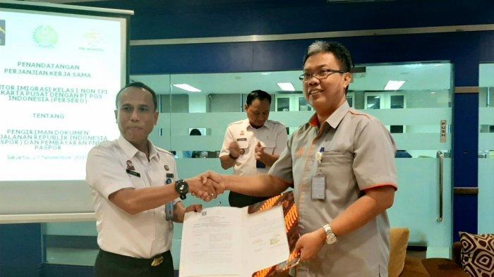Kantor Imigrasi Jakarta Pusat Resmi Buka Kerjasama dengan Kantor Pos
