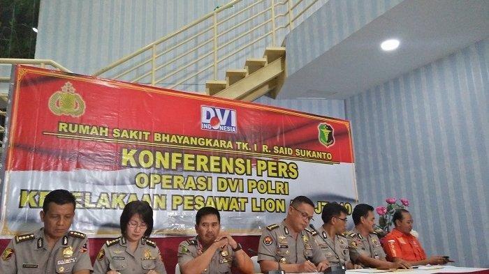 20 Korban Lion Air PK-LPQ Berhasil Diidentifikasi Tim DVI Polri, Berikut Nama-namanya
