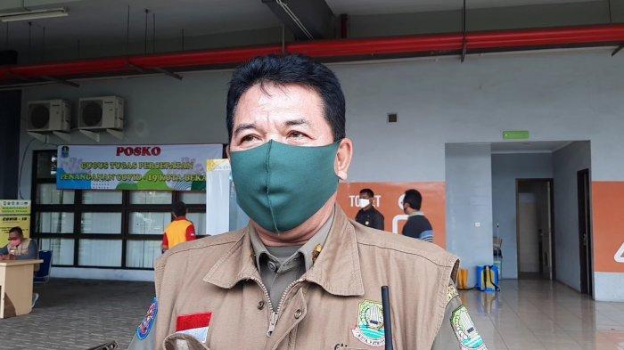 Kepala Satpol PP Kota Bekasi Abi Hurairah saat dijumpai di Stadion Patriot Candrabhaga Bekasi, Rabu (29/4/2020).