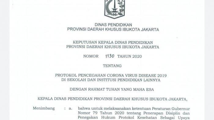 Terbitkan Regulasi Belajar Tatap Muka Saat Pandemi Covid 19 Melandai Pemprov Dki Mau Buka Sekolah Tribun Jakarta