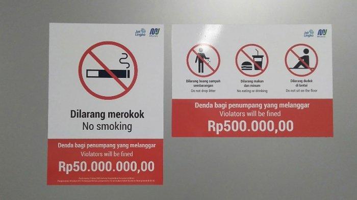 Penumpang Setuju Buang Sampah Sembarang Hingga Merokok di Stasiun MRT Denda Rp50 Juta