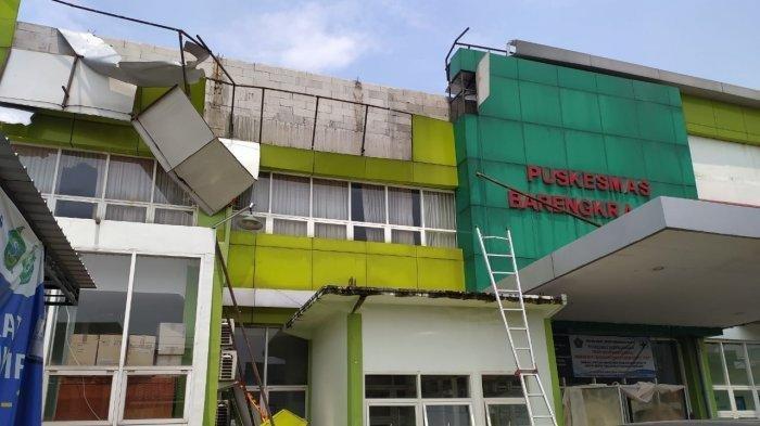Diguncang Angin Kencang, Bangunan Puskesmas Rusak Diduga Konstruksi Tak Sesuai