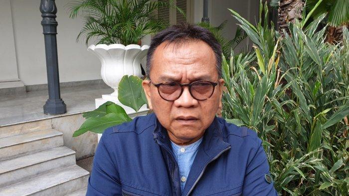 Ketua DPD DKI Jakarta Partai Gerindra Mohammad Taufik saat ditemui di Balai Kota, Gambir, Jakarta Pusat, Kamis (19/12/2019).