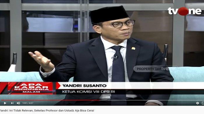 KPK Agendakan Periksa Ketua Komisi VIII DPR RI Yandri Susanto