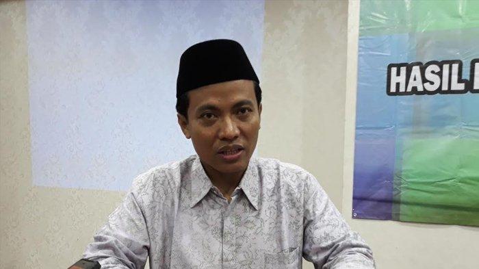 Ketua KPU Depok Nana Shobarna di Hotel Bumi Wiyata Depok, Senin (10/12/2018).
