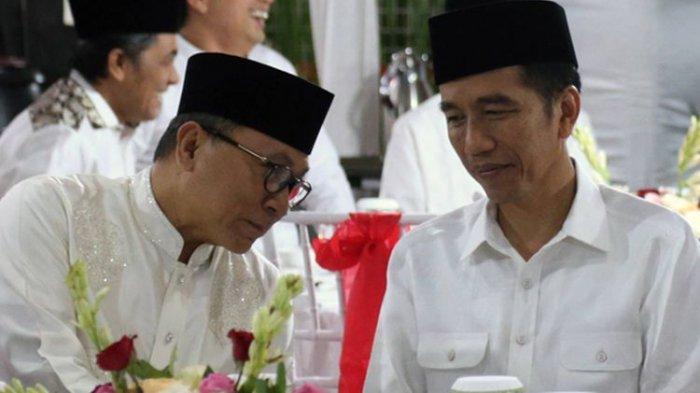 Semeja Makan Bareng Jokowi di Istana, Zulkifli Hasan Singgung Sahabat dan Pilpres
