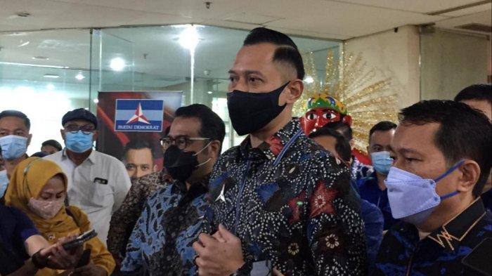 Ketua Umum Partai Demokrat Agus Harimurti Yudhoyono (AHY) saat ditemui di kantor Fraksi Demokrat DPRD DKI, Kamis (6/5/2021).