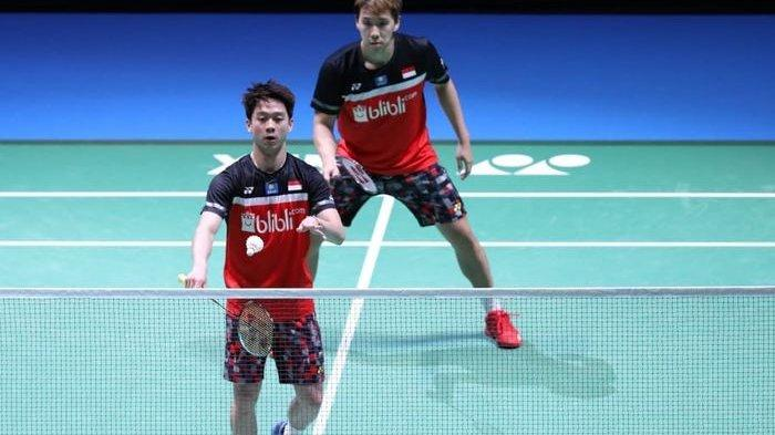Kejuaraan Beregu Asia 2020: Marcus/Kevin Menang, Tim Putra Indonesia Ketemu Malaysia di Final