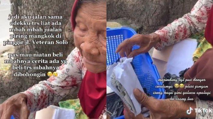 Viral di Media Sosial, Kisah Sariyo Nenek Penjual Mangkuk Ditipu Pembeli Diberi Amplop Berisi Koran