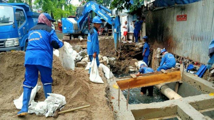 Antisipasi Banjir, Kolam Retensi Sepanjang 65 Meter Dibangun di Jalan Batu Ceper Jakarta Pusat